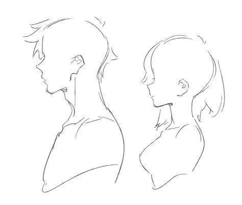 Face Reference Side View Male Female In 2020 Art Reference Poses Drawings Anime Drawings Tutorials