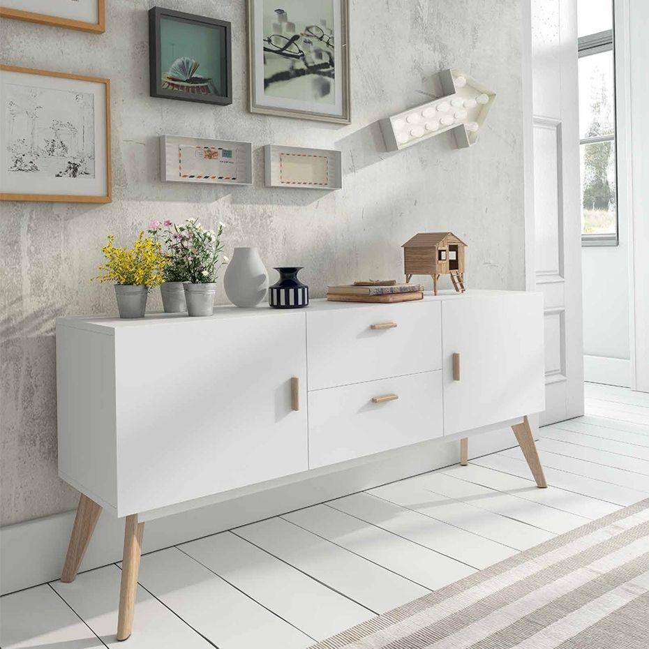 Aparador nordico marcus con 2 cajones y 2 puertas pvp 410 muebles - Aparadores originales ...