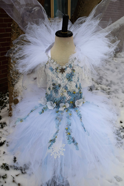 6aba5b042037 Winter fairy dress, fairy costume,Winter snow fairy dress,white and ice  blue fairy costume, fairy birthday dress, fairy festival costume by  TheMuseCreations ...