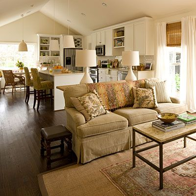 Decorating An Open Floor Plan let there be white!   southern living, open floor and open layout