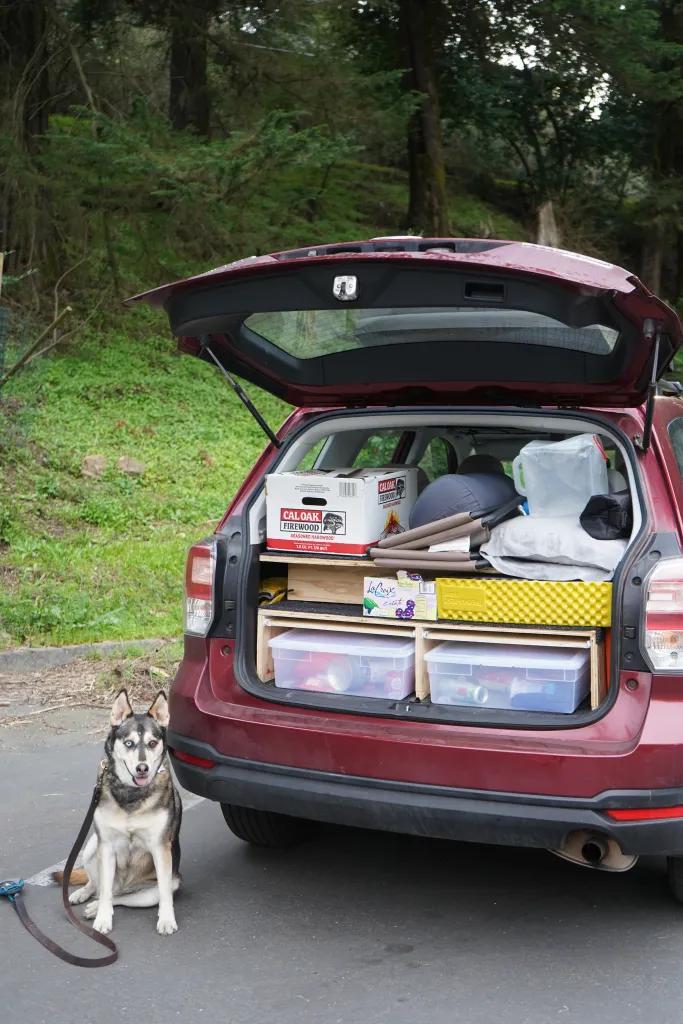 Suv Camper Conversion With Sleeping Platform Subaru Forester Bonjour Becky Suv Camper Subaru Forester Camper Conversion