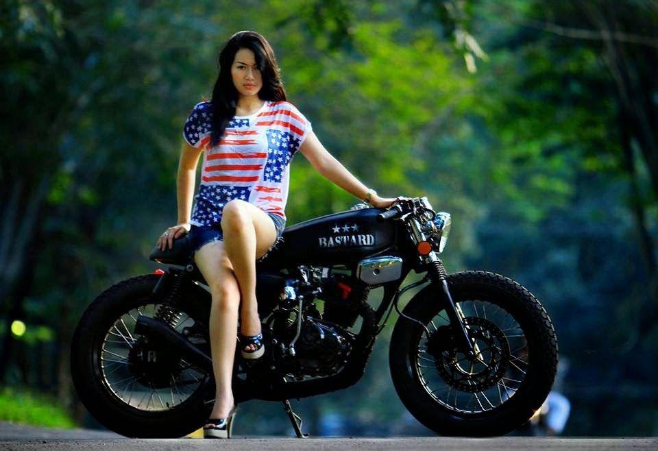 Gambar Modif Honda Tiger Tangki Gl100 Cafe Racer Chica Motorista
