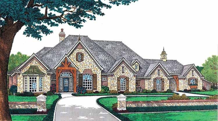 European Style House Plan 4 Beds 4 5 Baths 3423 Sq Ft Plan 310 230 French Country House Plans French Country House Country Floor Plans