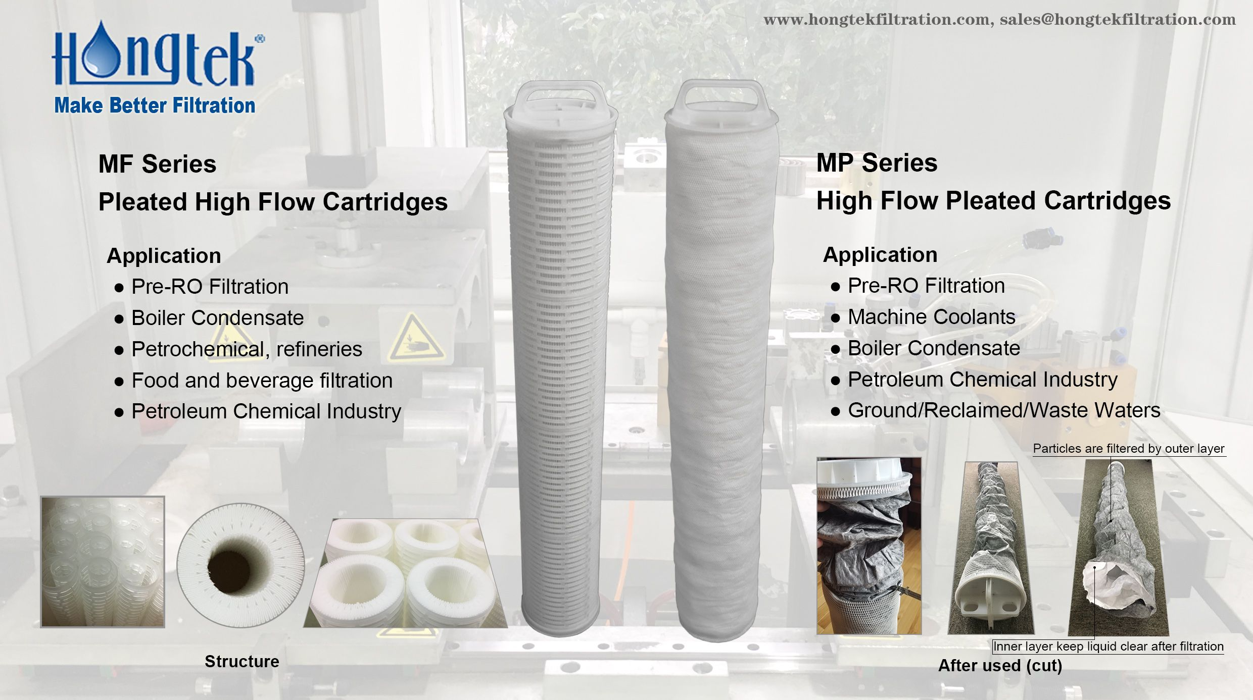 Compared With 2 5 Diameter Cartridges Hongtek High Flow Filters Advantages Fewer Elements Higher Flow Rates Lower Cost Filtration Flow Filters Cartridges