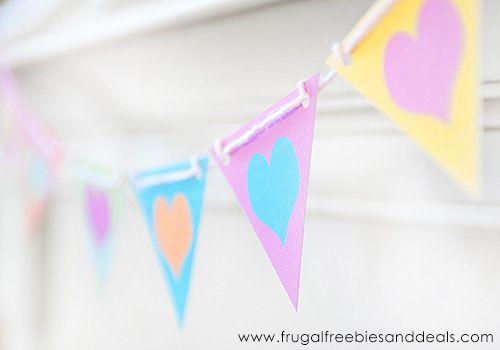 Valentine Heart Mini Banner (Free PDF)