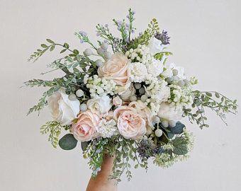 Wildflower Bouquet Wedding Flowers Bridesmaid Bouquet   Etsy