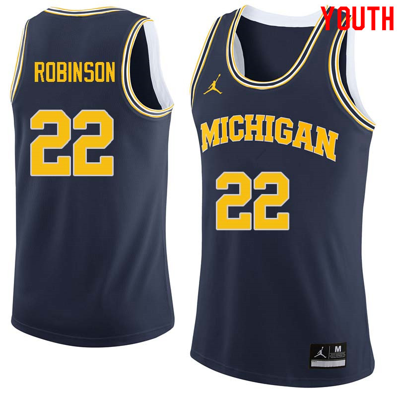 Youth 22 Duncan Robinson Michigan Wolverines College Basketball Jerseys Sale Navy College Basketball Jersey Michigan Wolverines Basketball Basketball Jersey