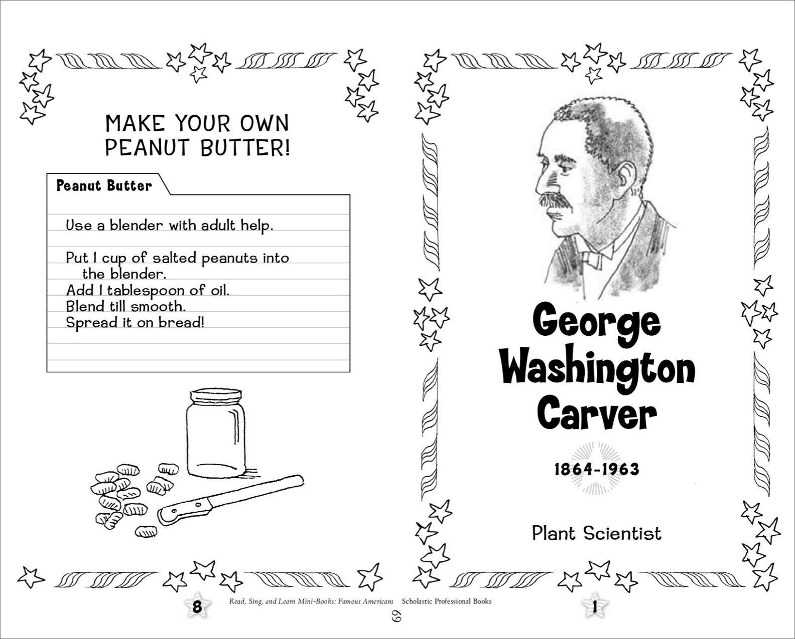 worksheet George Washington Carver Worksheets george washington carver famous american mini book printables printables