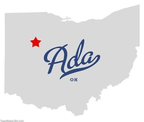 Map Of Ada Ohio Oh Cool Stuff Pinterest Ohio