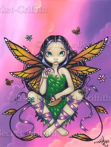 Butterfly Sunset gothic fairy fantasy art CANVAS PRINT