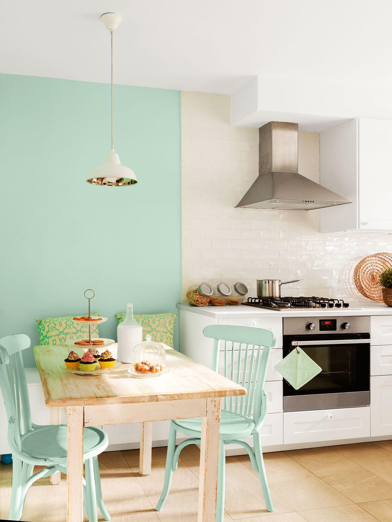 Blanco Y Verde A Duo Decoracion De Interiores Decoracion De Comedor Decoracion De Cocina