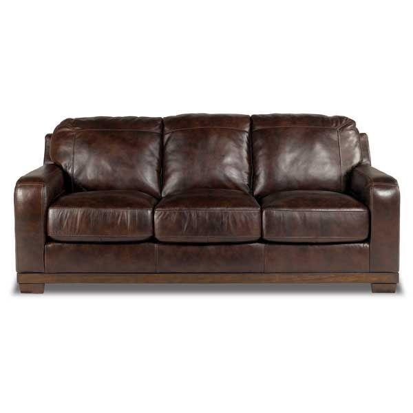 Walnut All Leather Sofa 0Y0 400S