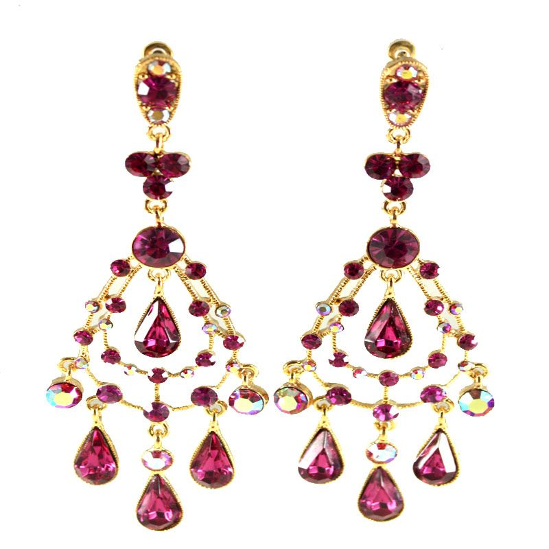 Fuschia and gold fuschia and gold athena bollywood chandelier fuschia and gold fuschia and gold athena bollywood chandelier earrings and shoe couture aloadofball Image collections