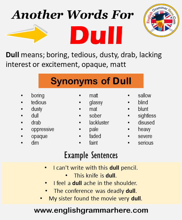 Another Word For Dull What Is Another Synonym Word For Dull Every Language Spoken Around The World Has Its Own C In 2021 Learn A New Language Words Learning Process