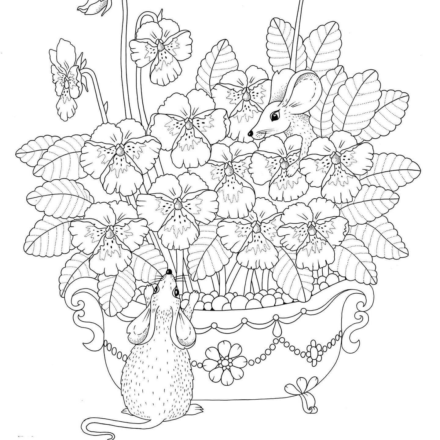 Friday Freebie Here Is A Free Coloring Page From My Coloring Book Flower Haiku Which Is Available At W Cute Coloring Pages Free Coloring Pages Coloring Pages
