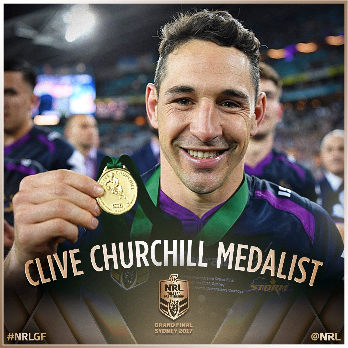 Congratulations To The 2017 Clive Churchill Medalist Billy Slater Nrlgf Nrl Nrl Rugby League League