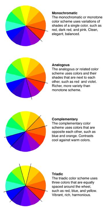 Fun With Color Theories Cool Warm Complimentary Monochromatic