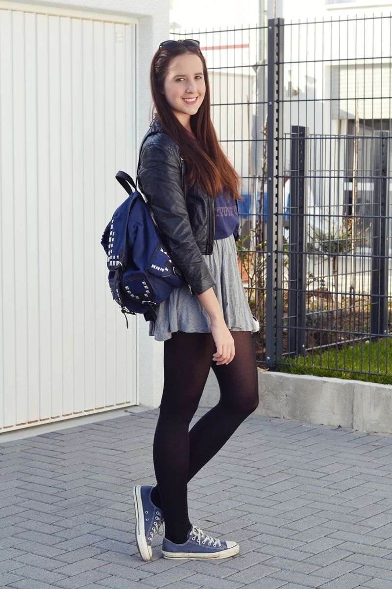 Black and sneakers   pantyhose beauties female or tg   Pinterest   Converse outfits Converse ...