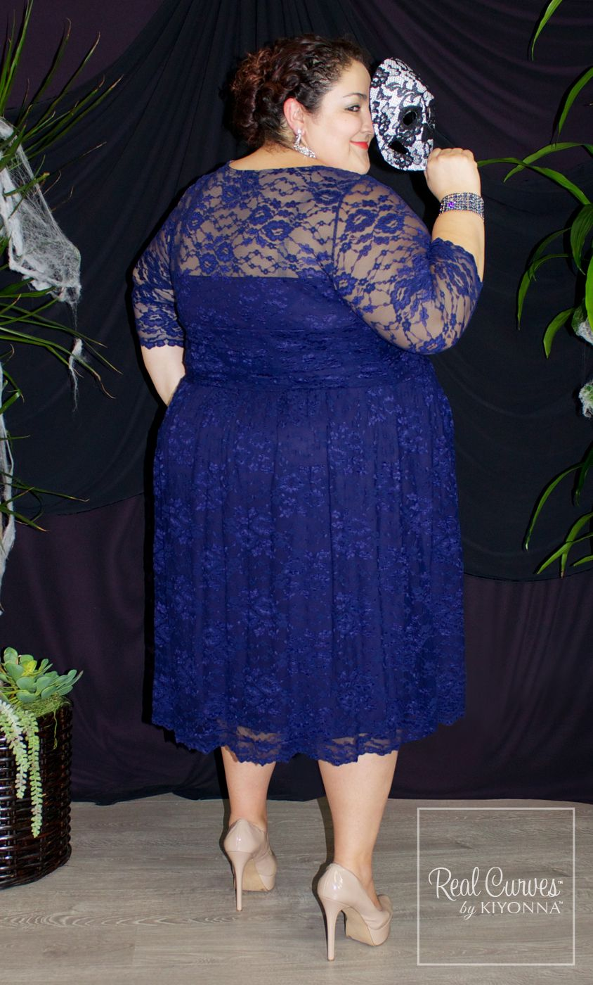 Our plus size Scalloped Luna Lace Dress in Sapphire is a fabulous ...