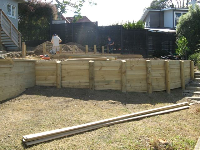 Curved Wooden Retaining Walls Google Search Retaining