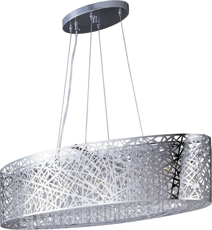 """ET2 E21310-10/BUL 9 Light 32"""" Wide Pendant From The Inca Collection Polished Chrome Indoor Lighting Chandeliers"""