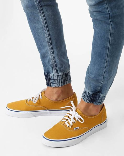 926d02b16ca2 Buy Mustard Yellow Vans Authentic Canvas Low-Top Sneakers at 50% off ...