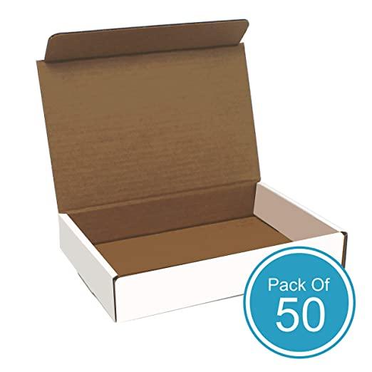 Amazon Com White Cardboard Shipping Box Pack Of 50 11 X 8 75 X 2 Inches White Corrugated Box Corrugated Box Cardboard Shipping Boxes Shipping Box Sizes