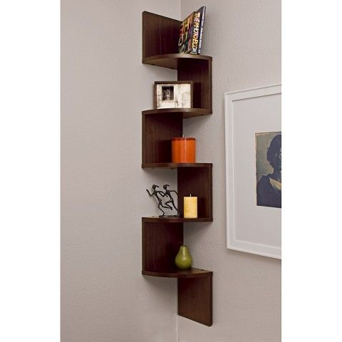 48 5 X 7 7 Zigzag Corner Shelf Danya B Corner Wall Shelves Corner Wall Shelves