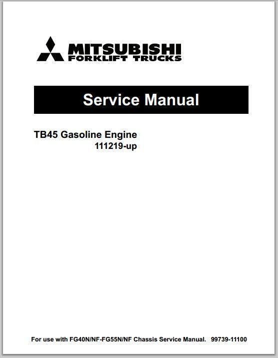 Mitsubishi Tb Gasoline Engine Up Service Manual