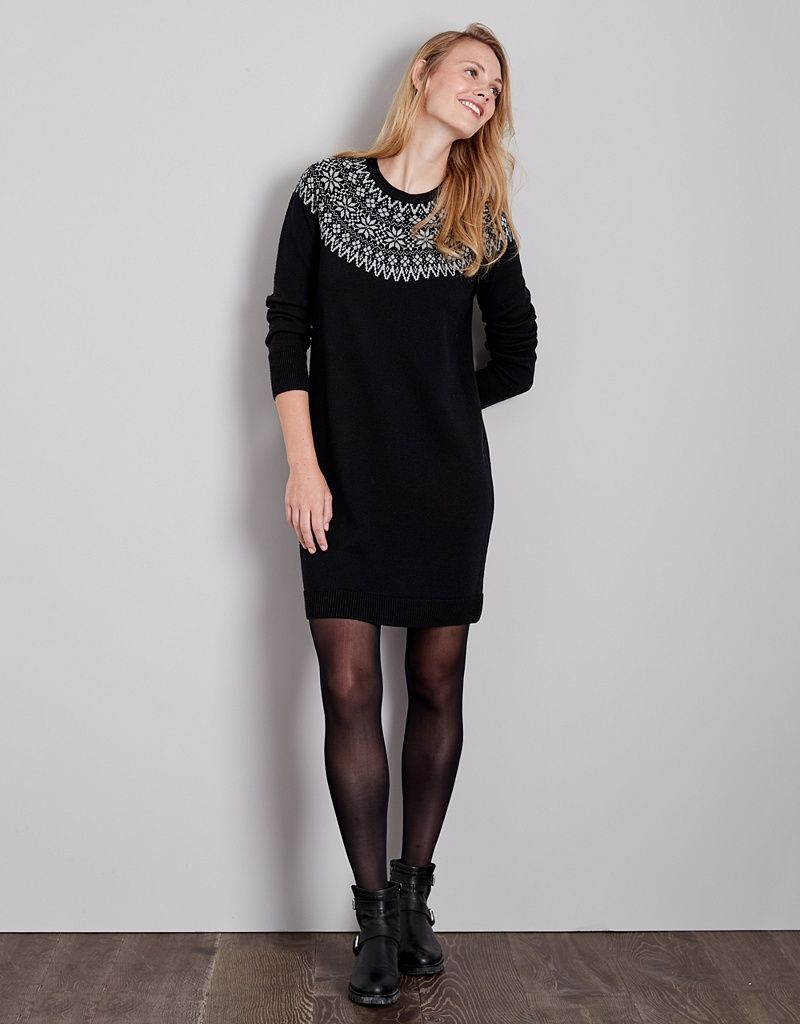 ef8d90e4094ab Wool Fair Isle Knitted Dress | Dresses & Tunics | The White Company UK