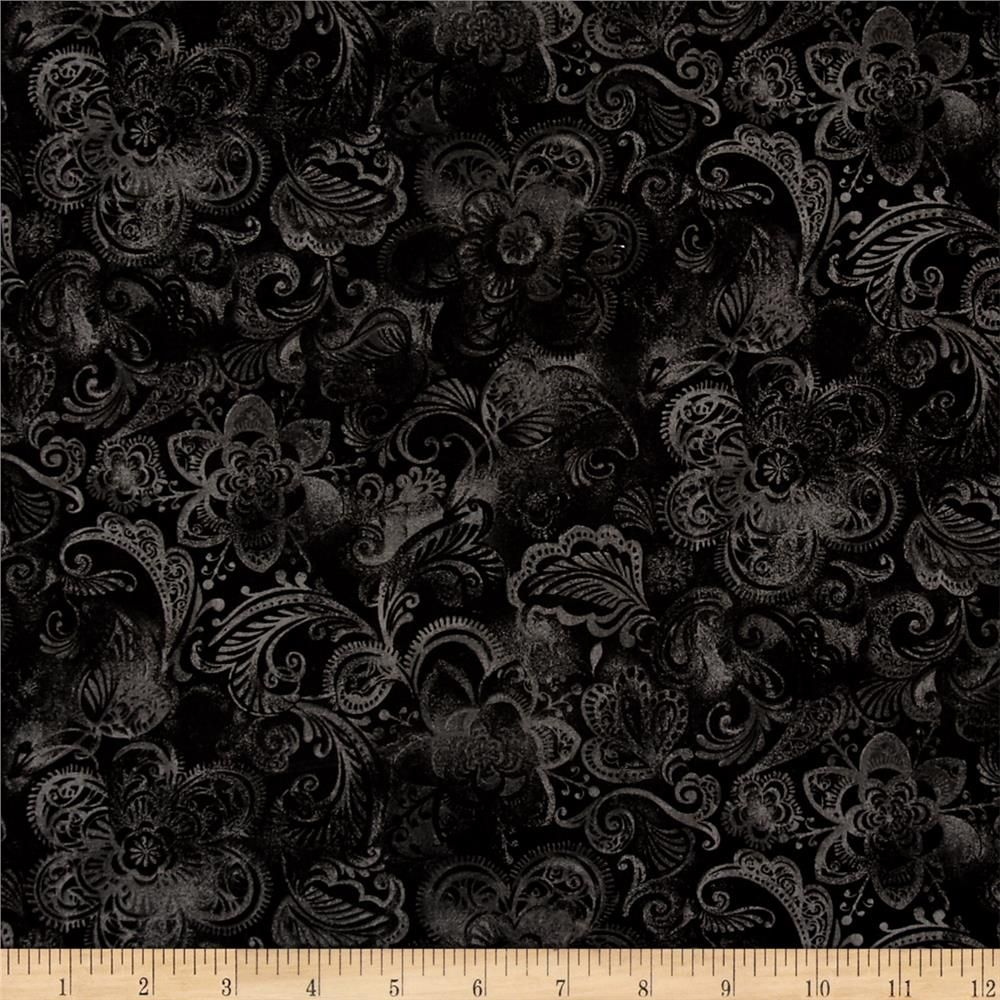 Shades Of Black, Quilts, Vines