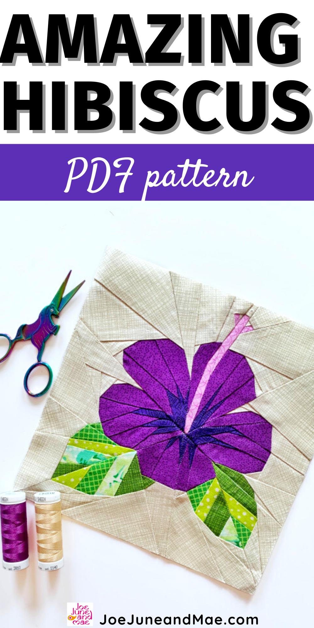 Amazing Hibiscus Pdf Pattern In 2020 Nahen Auf Papier