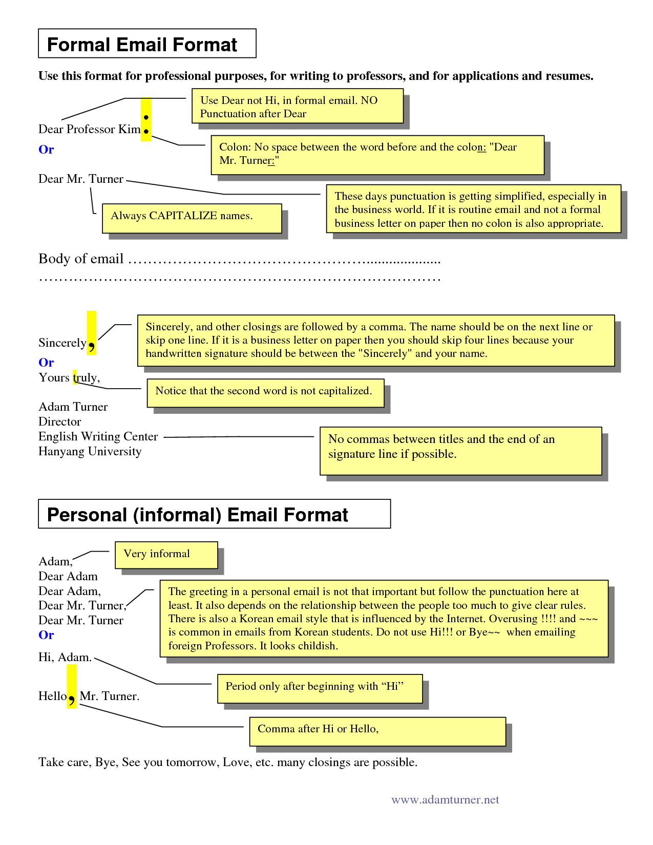 Email Letter Sample Sample Of Formal Business Writing