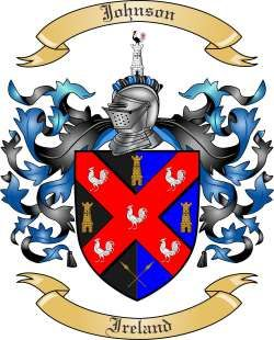 johnson family crest irish | We do have the Johnson coat of arms / family crest from Ireland, along ...