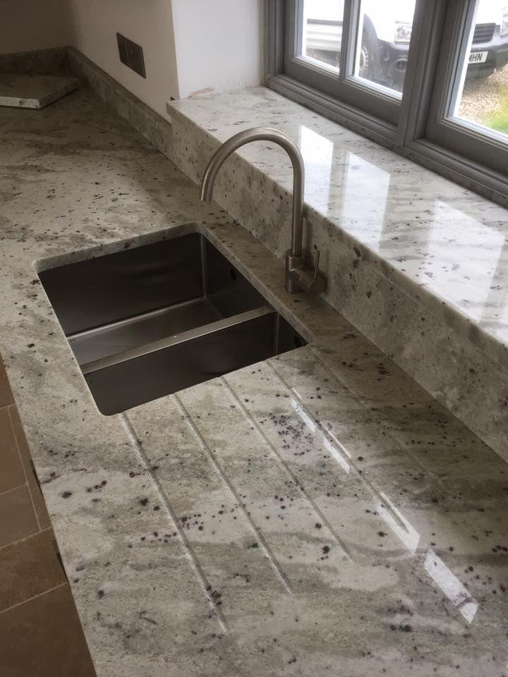Andromeda White Granite worktop #granite countertops cost in ...
