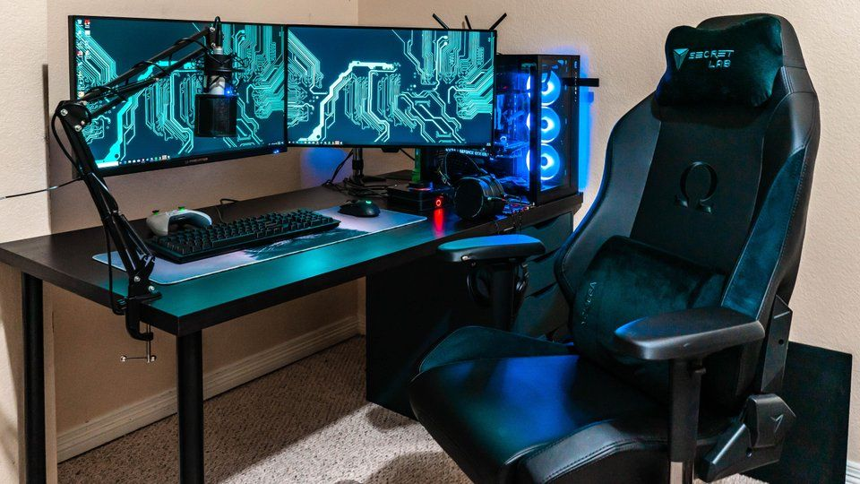 Secretlab Omega Gaming Chair Computer Setup Blue Chairs Living Room