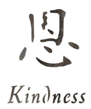 Amazon Kindness Asian Chinese Symbol Accent Stencil Stencil