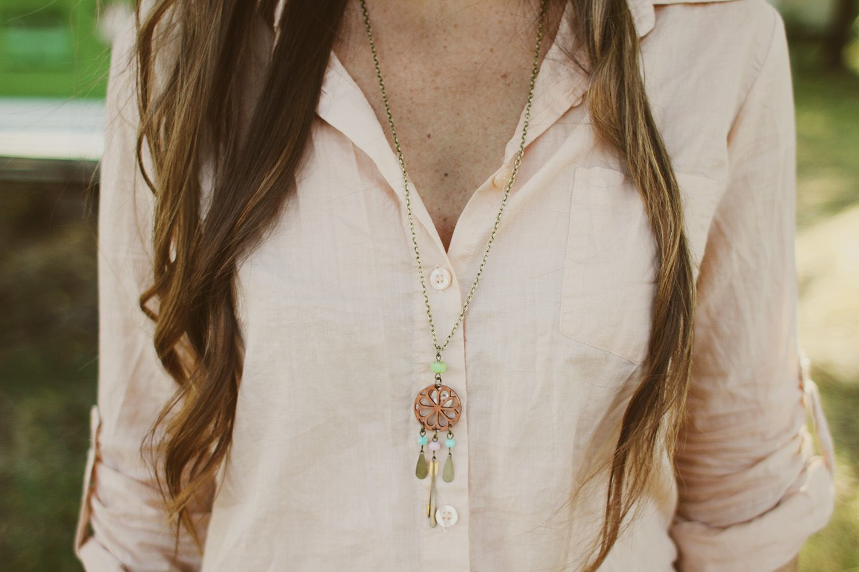 necklace, dreamcatcher