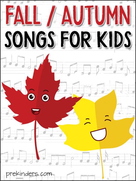 Fall / Autumn Songs for Kids, Pre-K, Preschool, Kindergarten | PreKinders
