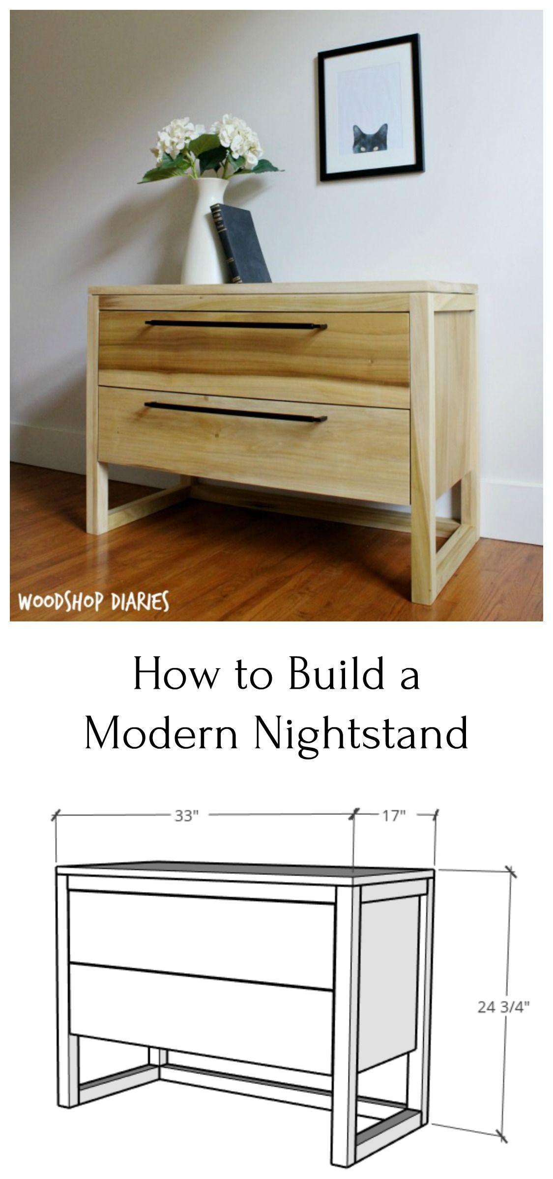 DIY Modern Nightstand {How to Build it in 6 Easy Steps