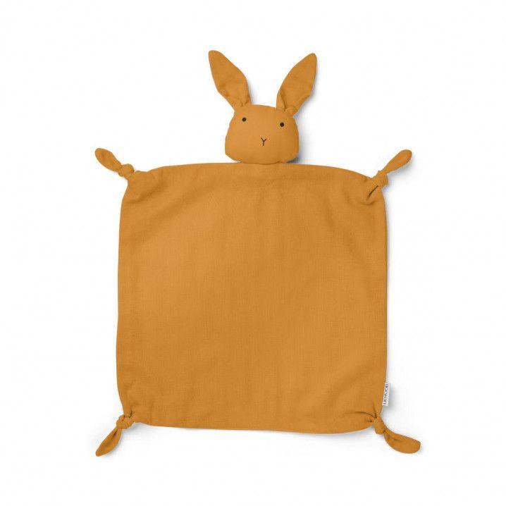09796752a8c LIEWOOD Agnete Organic Cotton Cuddle Cloth  Lovey Rabbit Mustard ...