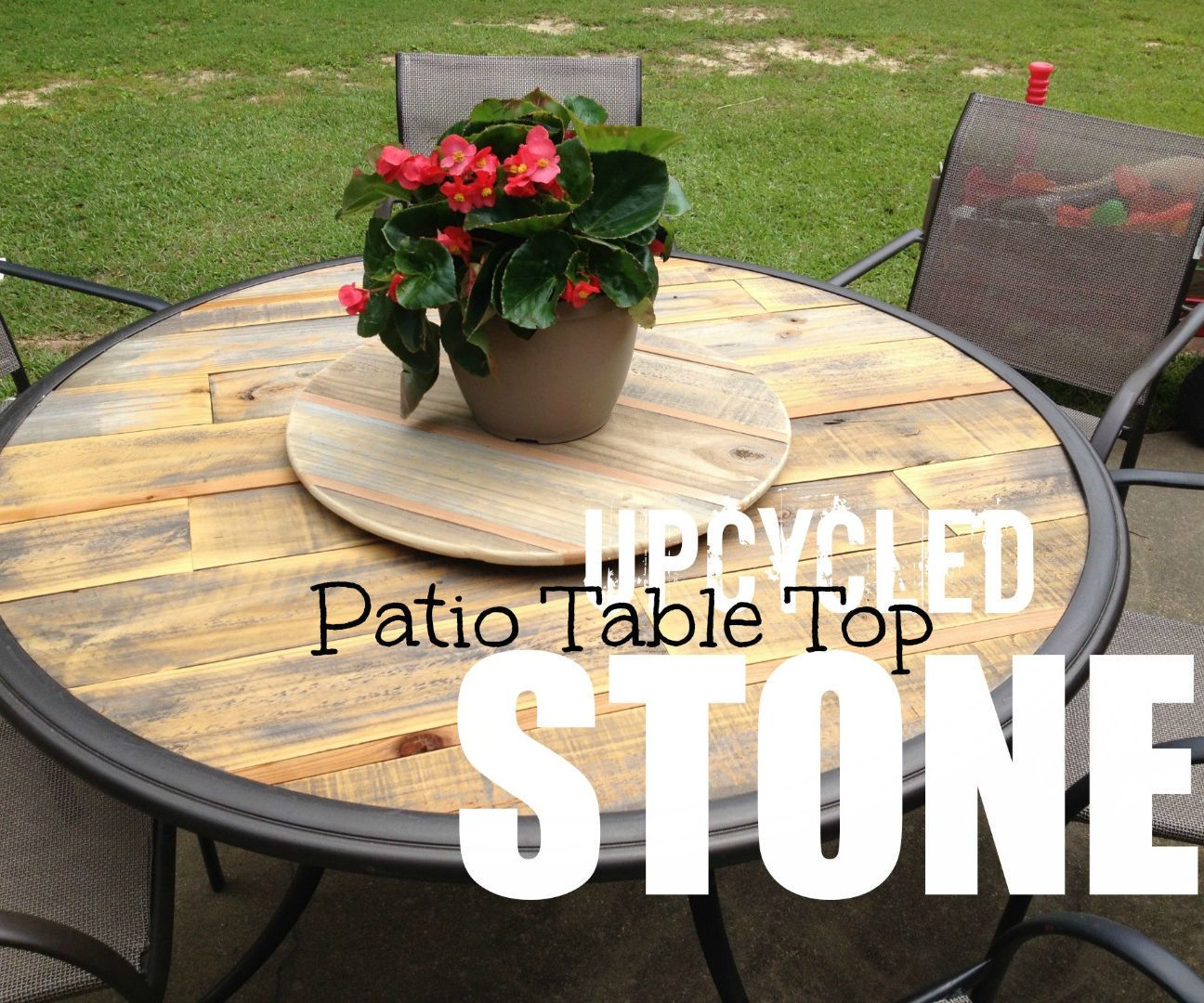 How To Upcycle A Broken Patio Table Patio Table Redo Round
