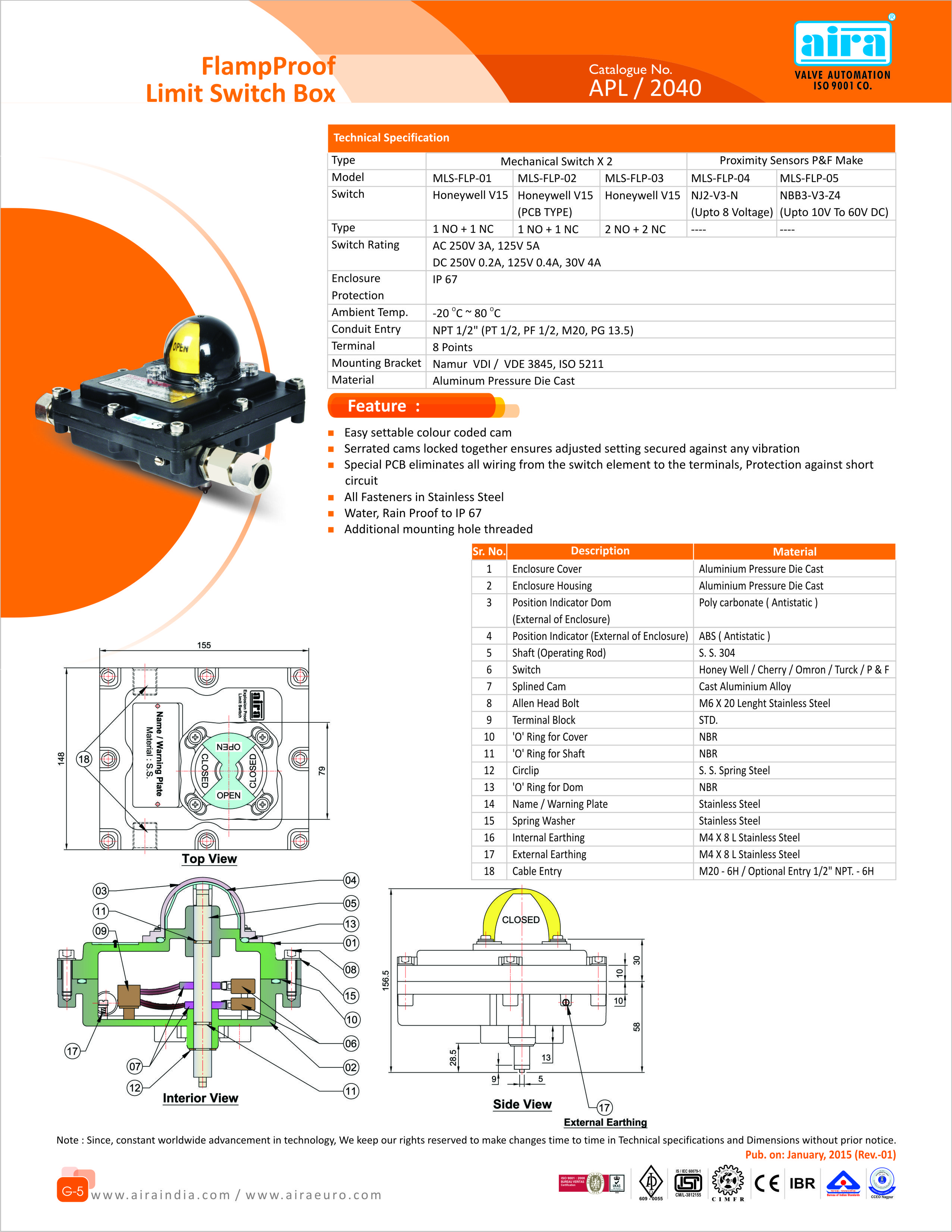 Flamproof Limit Switch Box For More Information can Visit