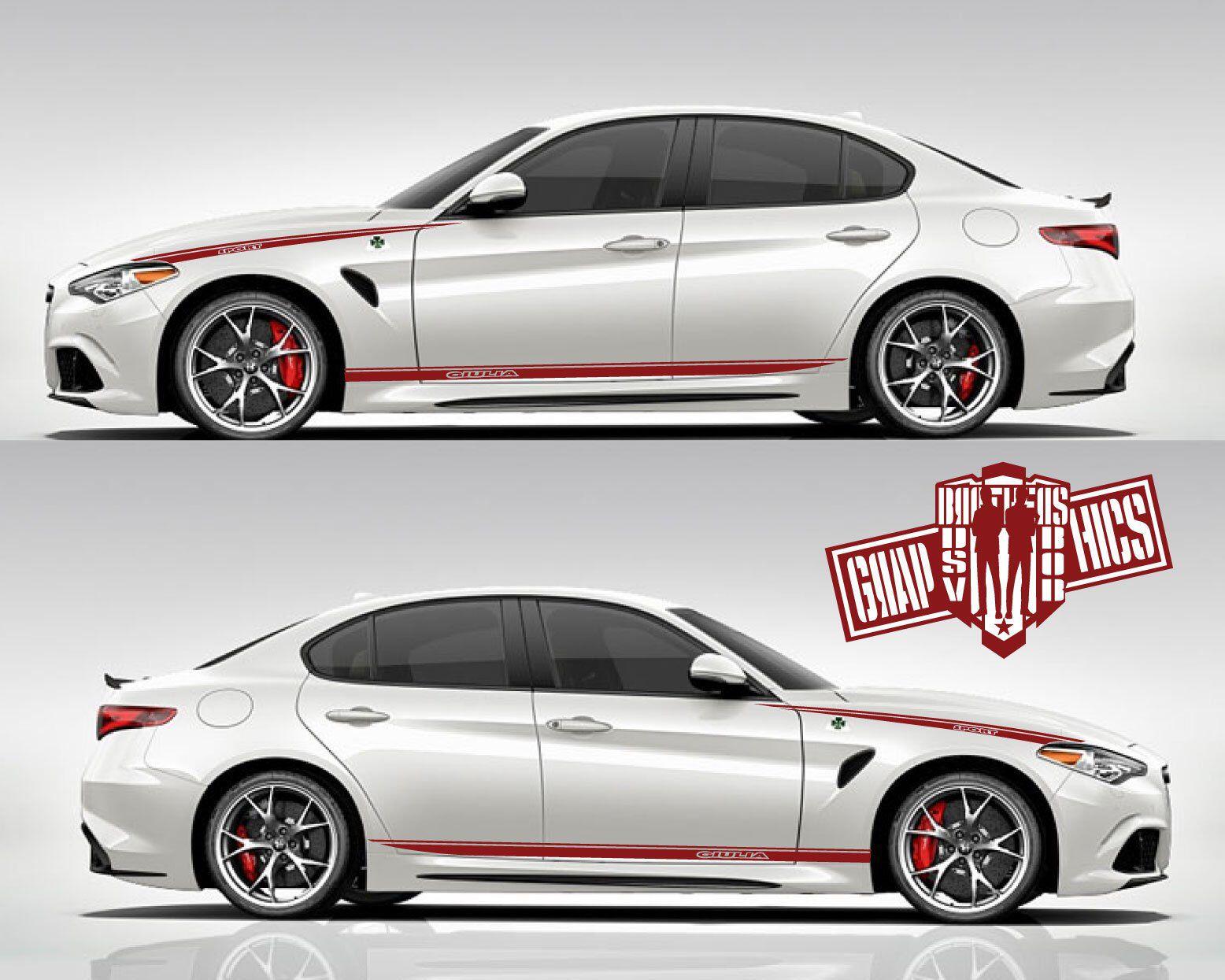 ALFA ROMEO GIULIA 4x Racing Stripes graphics vinyl body