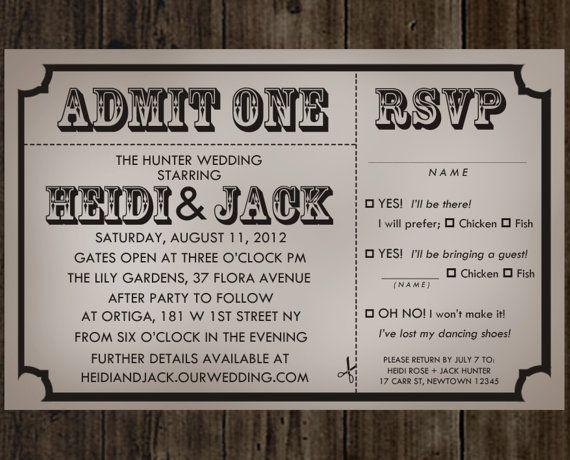 Diy printable admit one vintage movie ticket rustic wedding diy printable admit one vintage movie ticket rustic wedding invitation solutioingenieria Choice Image