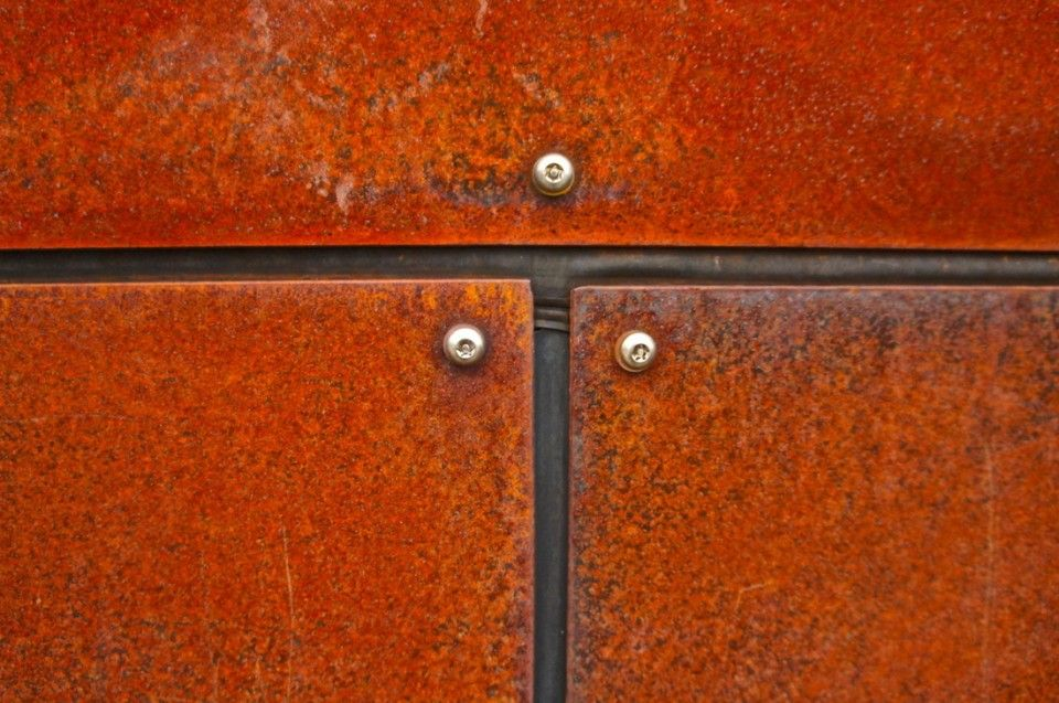 Corten Steel Sheet Plate Fence Design Corten Steel