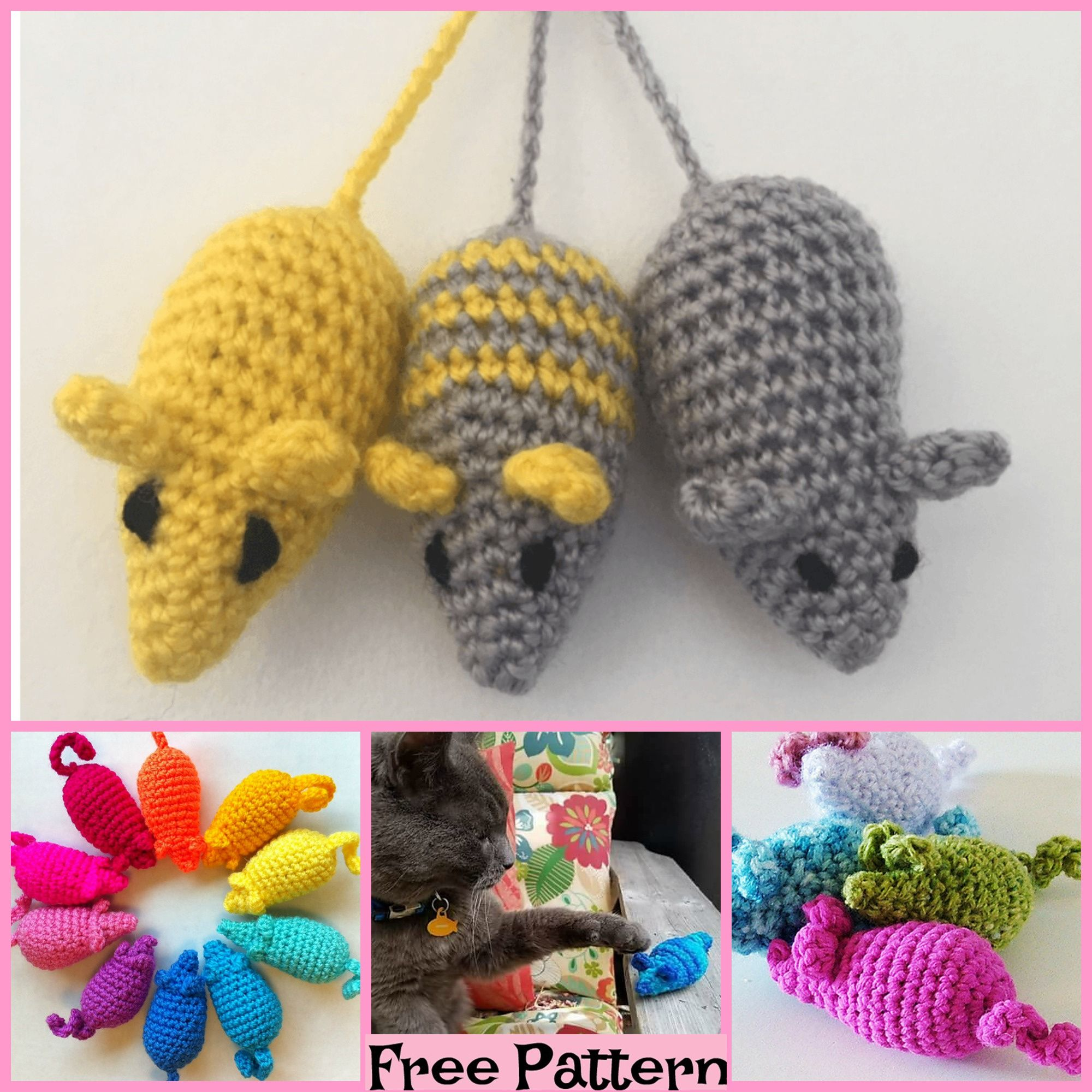 Ravelry: Easy Peasy Catnip Mouse Toy pattern by Meelai | 2000x2000