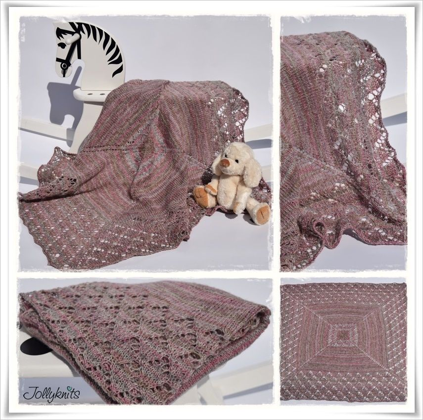 Strickanleitung Babydecke mit Mütze Amélie / Knitting Pattern Baby ...