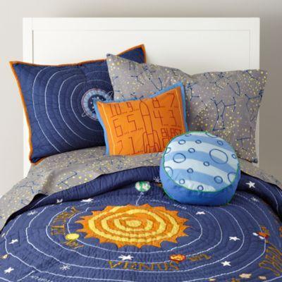 Kids Blue Solar System Bedding Crate And Barrel Solar System