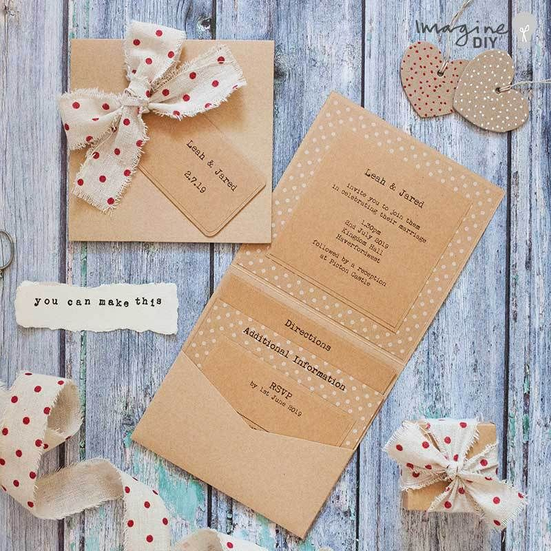 How To Make Rustic Polka Dot Wedding Stationery